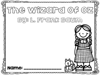 Wizard of Oz Comprehension Questions by A Pirate's Life
