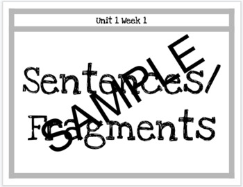 Wonders 3rd Grade Grammar with unit and week labels by 3rd