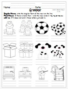 Wonders First Grade-Unit 2: Week 2: Days 1-5: Extended