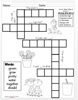 Wonders First Grade: Unit 3 Week 2 Days 1-5: Extended