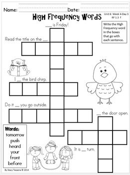 Wonders First Grade: Unit 6 Week 4 Days 1-5: Extended