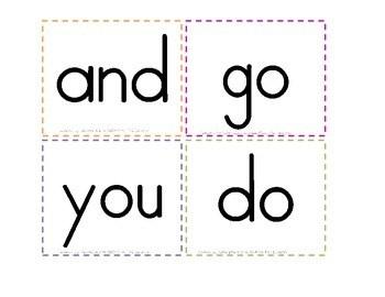 Wonders Series-- Kindergarten Sight Word Flash Cards or