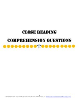 Woods Runner Close Reading Comprehension Questions & Essay