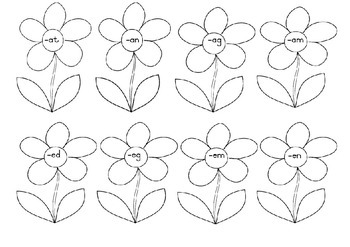 Word Family Flowers Worksheets by Two Proudly South