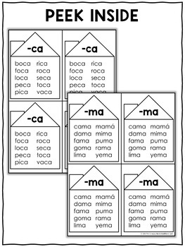 Spanish Syllable Word Family Houses 1 by Nicole and Eliceo