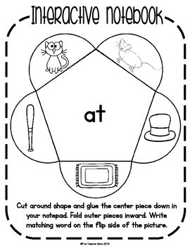 Word Family 'at' Activities and Worksheets by The Teacher