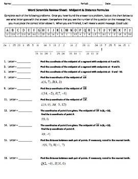Word Scramble Review Worksheet