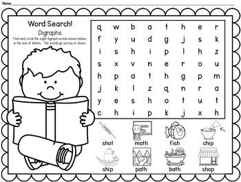 Word Searches: CVC, CVCe, Blends, Digraphs & More