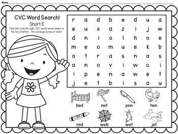 Word Searches: CVC, CVCe, Blends, Digraphs & More