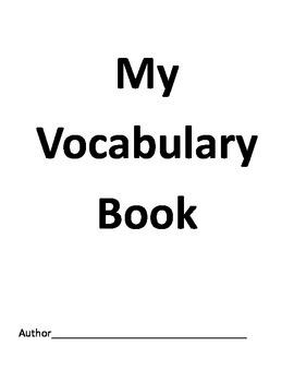 Word Study Station/ Center Activity- My Vocabulary Book