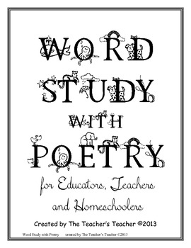 Word Study with Poetry Intermediate Edition by The Teacher