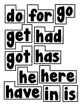Word Wall Words (Kindergarten Sight Words) by Classroom