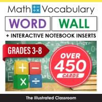 Math Word Wall for Middle School by The Illustrated ...