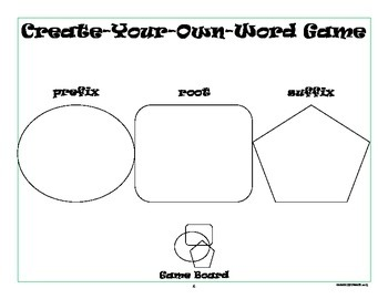 Word Work Activity: Prefixes, Suffixes, and Roots Game by