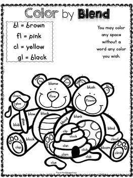 Word Work with Blends {l blends, r blends & s blends} by