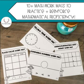 Math Work Mats (Tens Frame, Hundreds Chart, + Place Value