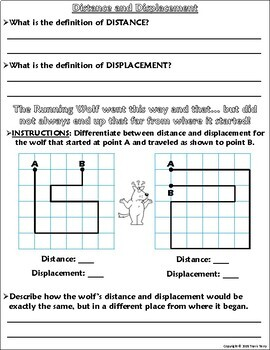 Distance And Displacement Worksheet : distance, displacement, worksheet, Worksheet:, Graphing,, Distance,, Displacement, Running