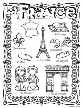 World Countries Research Book ~ French by Peg Swift French