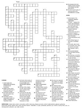 Post World War I Crossword Puzzles by All Things History