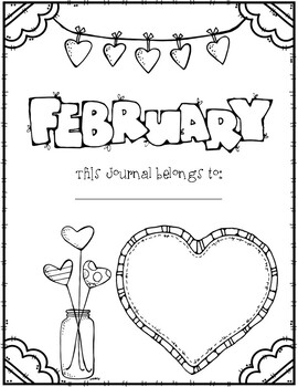 Write it! February Journal Prompts, Word Lists, and Cover
