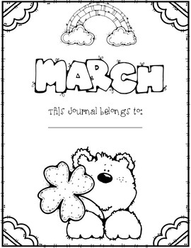 Write it! March Journal Prompts, Word Lists, and Cover