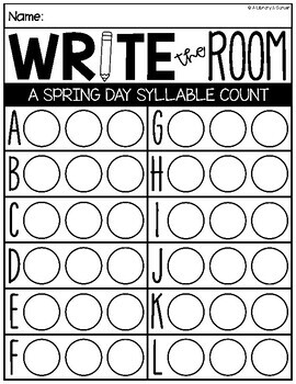 Write the Room: A Spring Day Edition (K-2) by A Library