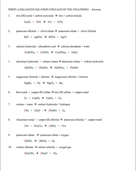 Chemical Formulas and Balancing Chemical Equations by Amy