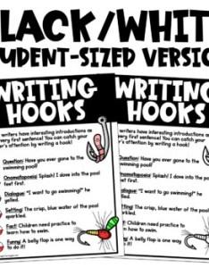 Writing hooks anchor chart free also by teaching in the tongass tpt rh teacherspayteachers
