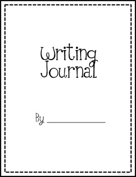 Writing Journal Cover and Lined Page Format {FREE} by