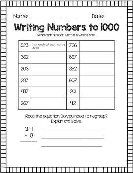 Writing Number Words To By Catherine Keating
