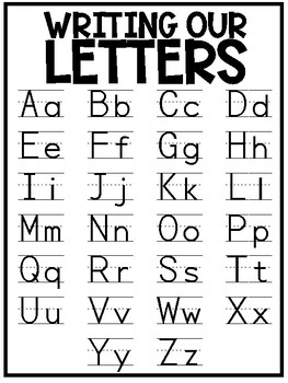 Writing Our Letters / Handwriting Letter Formation Poster