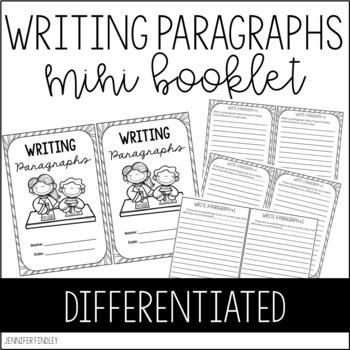 Writing Paragraphs Practice Book {Differentiated} by