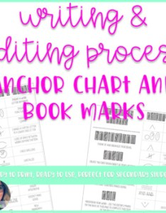 Writing process and editing marks bookmark also by fairways chalkboards rh teacherspayteachers