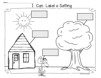 Writing Workshop Freebie {I Can Label a Setting} by Class