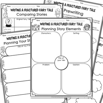 Writing Fractured Fairy Tales (LapBook & Planning Sheets