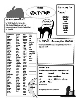 Writing a Ghost Story Handout by Secondary English with