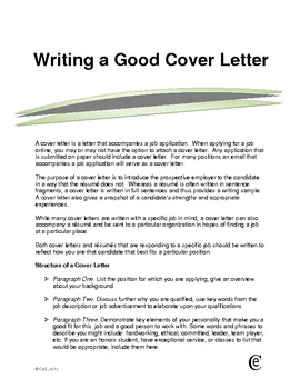 Resume With Cover Letter Example