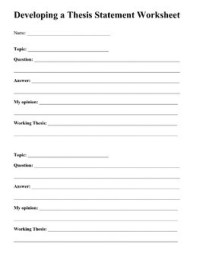 Thesis Statements: Writing a Great Thesis by Laura Torres ...