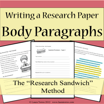 Research Papers Writing Body Paragraphs By Laura Torres TpT