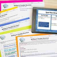 Parallel Structure: PowerPoint, Worksheets, Tests by The ...