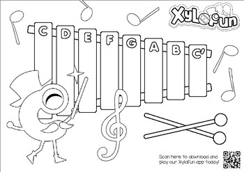 XyloFun: Kinder Music Coloring and Song Activity Pack by