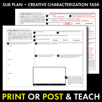 Video Channel Characterization Writing Activity, Use with