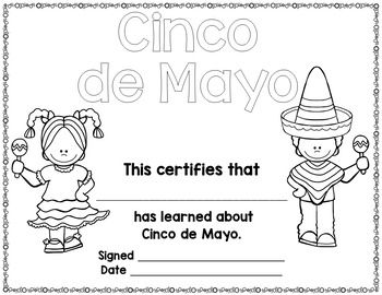 Cinco de Mayo Activities Differentiated Readers by First