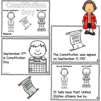 Constitution Day Printable Reader with Comprehension by