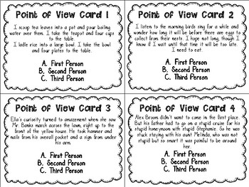ZOOM in on Point of View Task Cards PLUS Cooperative