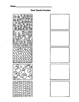 Zen Doodle Practice! Have your students practice patterns