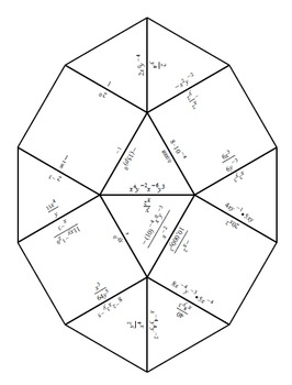 Zero and Negative Exponents Tarsia Puzzle by Ms M's Math