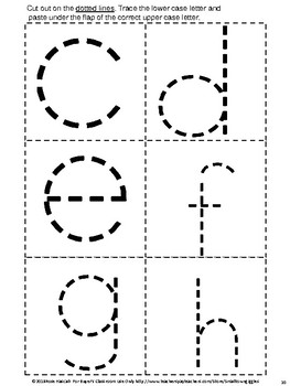 Tracing Letters, Upper Case Lower Case Matching Flip Book