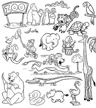 Zoo Animals Clip Art! 44 PNG Images for Commercial Use by