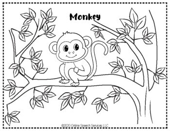 Zoo Animals Themed Coloring Worksheets for Preschool and